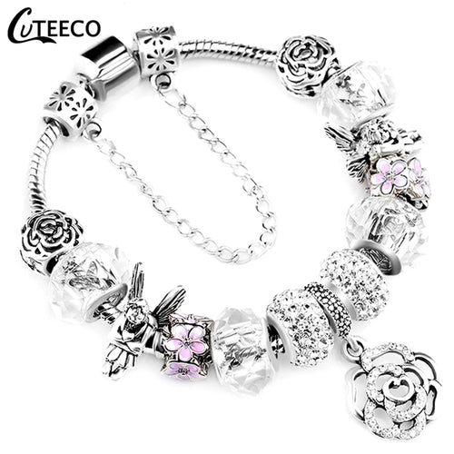 Women Crystal Bangle Bracelet - Rescue Beam