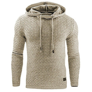 Men's Designer Jacquard Hoodie | Long-Sleeve Men's Hooded Sweatshirt - Rescue Beam