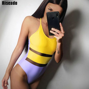 One Piece Swimsuit |Cross Strap Beachwear - Rescue Beam
