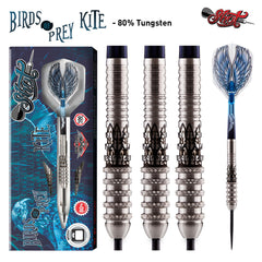 Birds of Prey Kite Steel Tip Dart Set-Front Weighted 80% Tungsten Barrels-21g