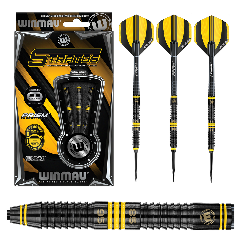 Winmau Stratos Dual Core Steel Tip 95/85% Tungsten Darts - 22g