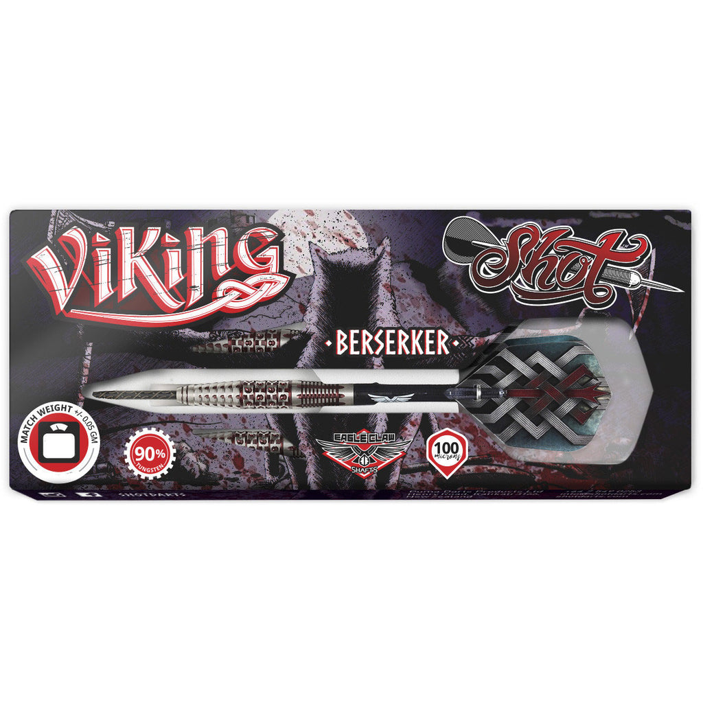Viking Berserker Steel Tip Dart Set-90% Tungsten Barrels-23g
