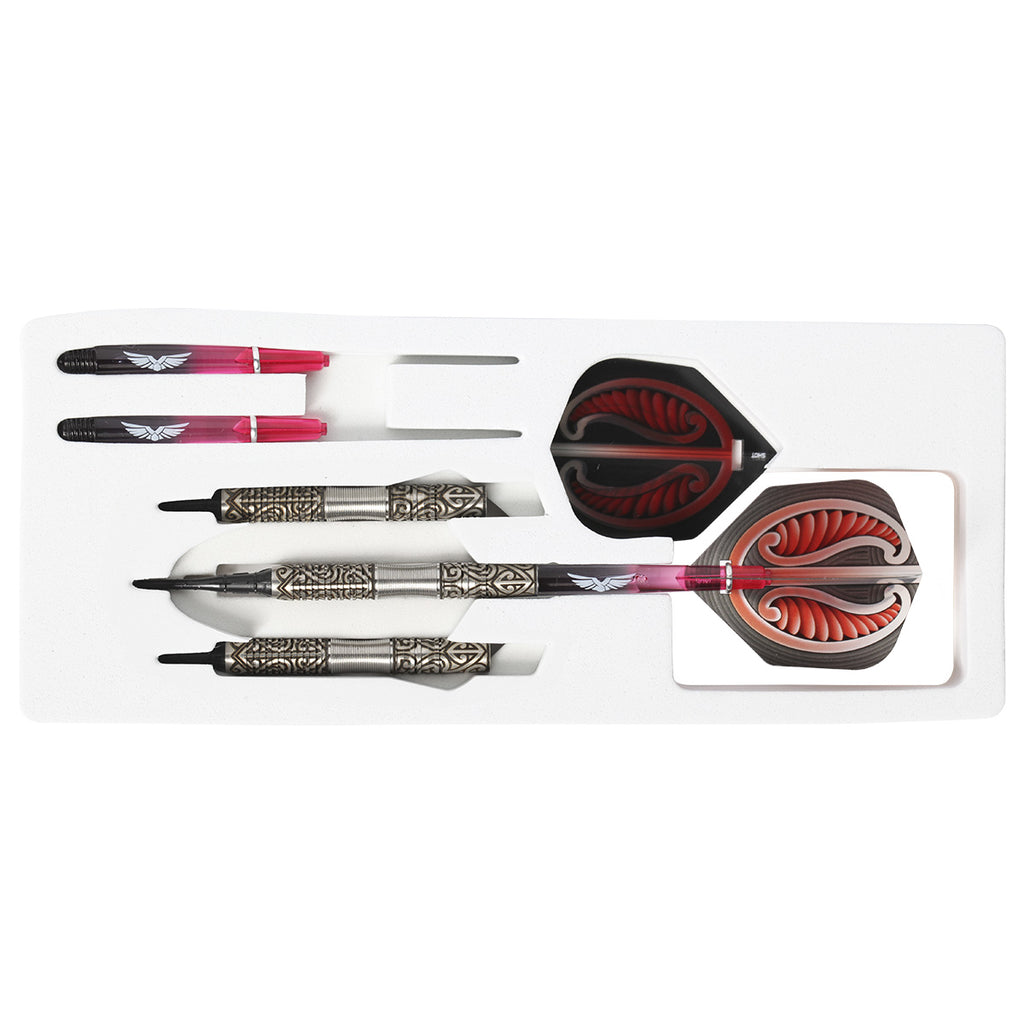 SHOT Warrior Hautoa SOFT Tip Dart Set-80% Tungsten - 18g