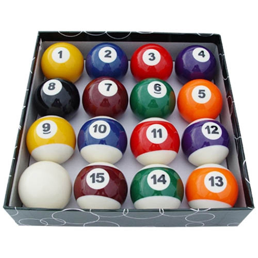 Formula Standard Resin Pool Balls - Boxed 1 7/8""