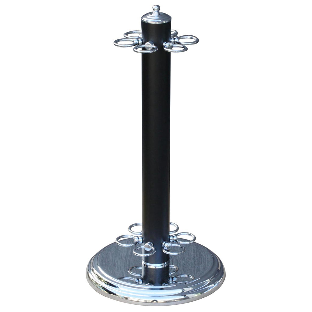 Metal Stand 6 Cues - Blk/Chrome
