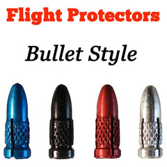 Aluminium Bullet Style Flight Protectors - Set of 3