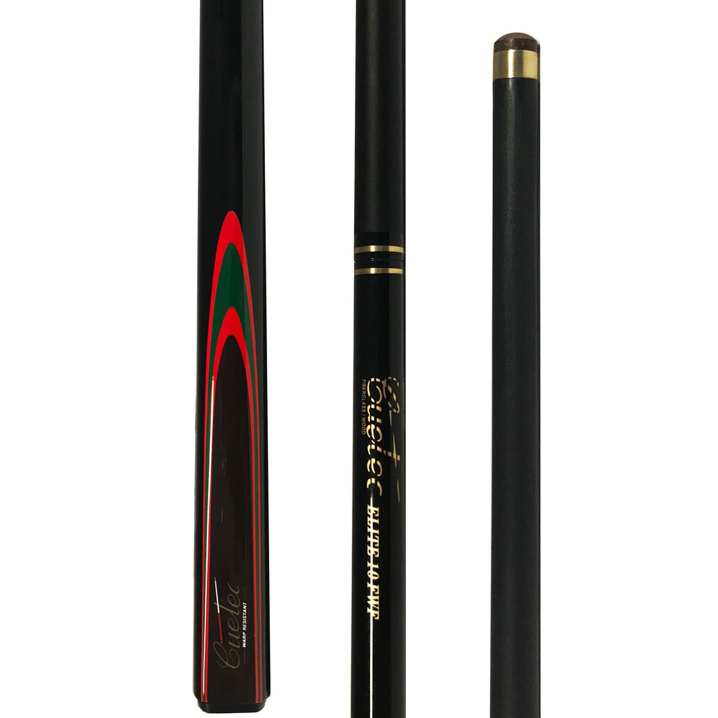 Cuetec ELITE FWF Composite Fibreglass Two Piece Cue - Red Black