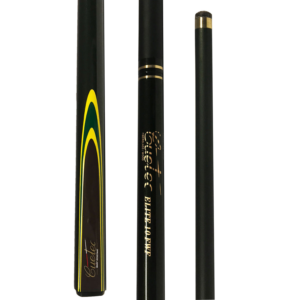 Cuetec ELITE FWF Composite Fibreglass Two Piece Cue - Black & Yellow