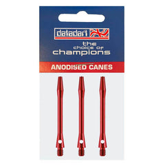 Datadart Anodised Alloy Dart Shafts - Medium Red 46mm