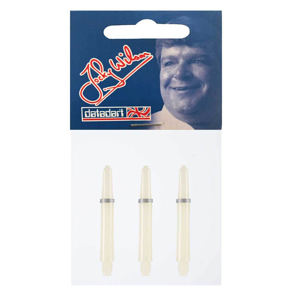 Datadart Jocky Wilson Dart Shafts - Short White 35mm