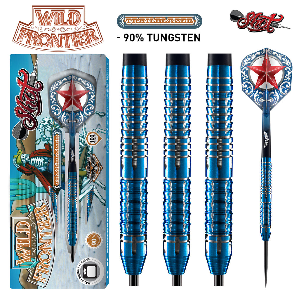 Shot Wild Frontier Trailblazer Darts - 90% Tungsten 25g
