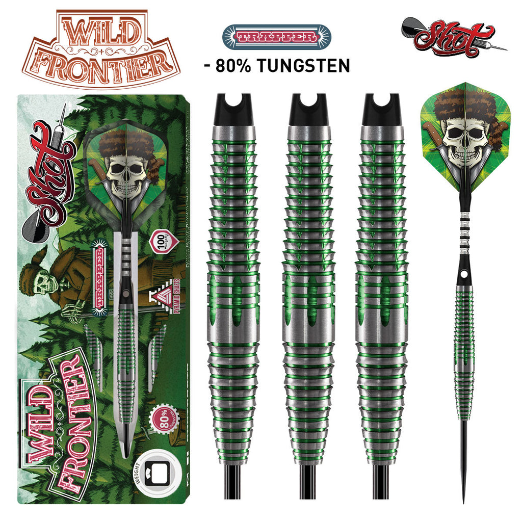 SHOT Wild Frontier Trapper Darts - 80% Tungsten - 22g