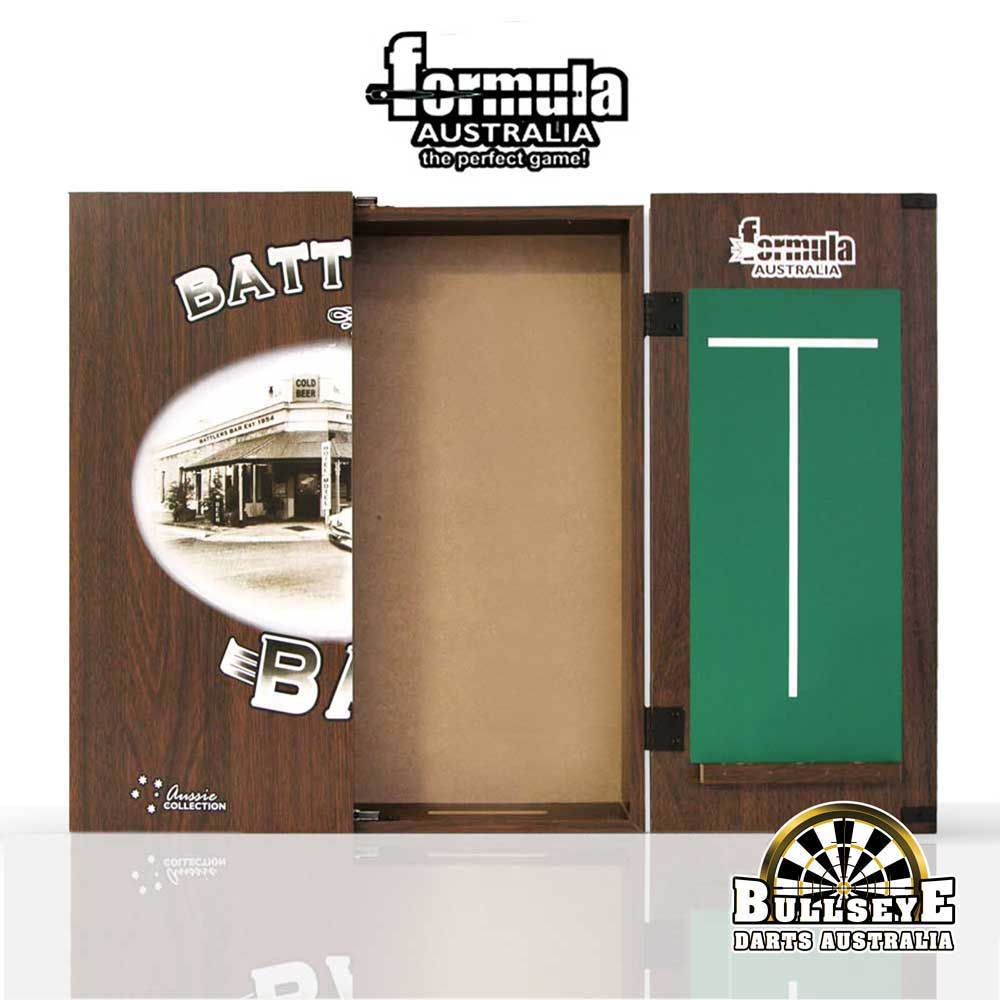 Formula Battlers Bar Dartboard Cabinet with Chalkboards