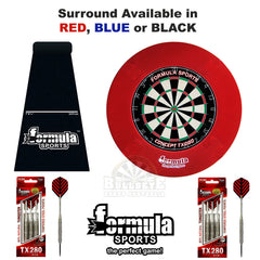 Formula Journeyman Plus Set Inc. Dartboard, Surround, Mat & 2 Sets of 80% Tungsten Darts