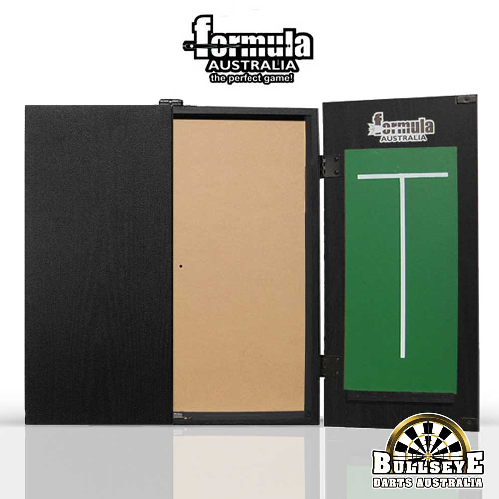 Formula MDF Dartboard Cabinet Black with Chalkboards