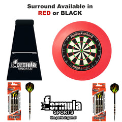 Formula Top Gun PRO Set Inc. Dartboard, Surround, Mat & 2 Sets 90% Tungsten Darts