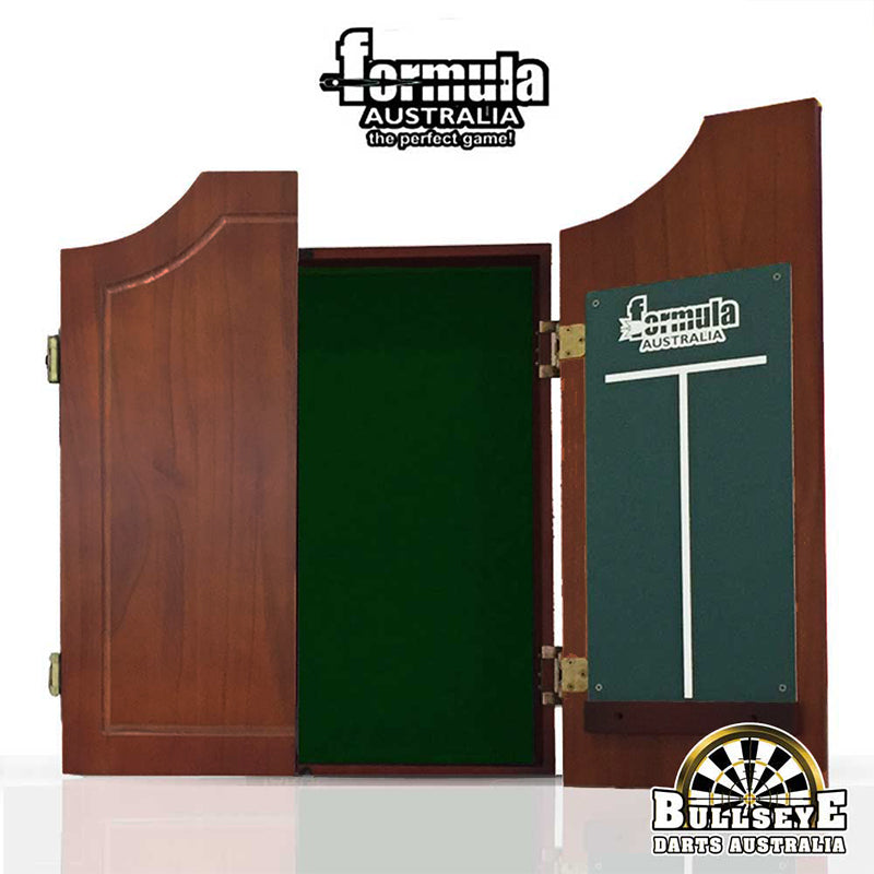 Formula Solid Wood Darts Cabinet, Walnut Colour With Felt Backing