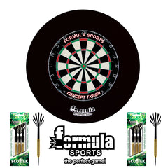 Formula Sports Apprentice Set Inc. Dartboard, Surround & 2 Sets of Darts