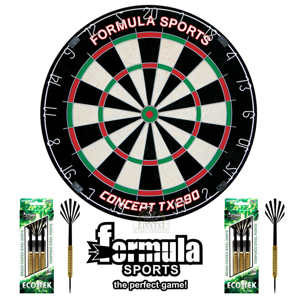 Formula Sports Darts Discovery Set - TX290 Bristle Dartboard & 2 Sets of Darts
