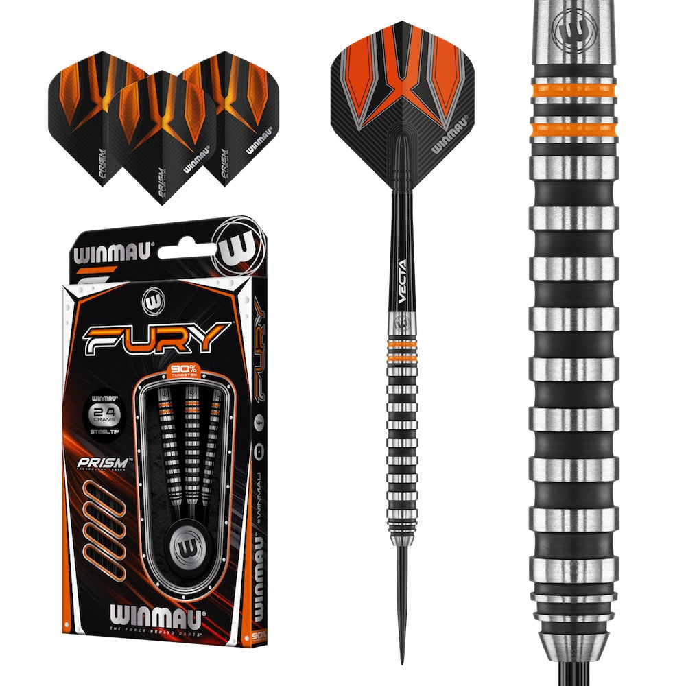 Winmau Fury Darts - 90% Tungsten - 24g