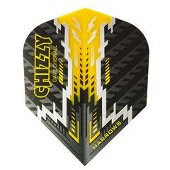 Harrows Dave Chisnall CHIZZY Dart Flights - 100 Micron PRO - Black
