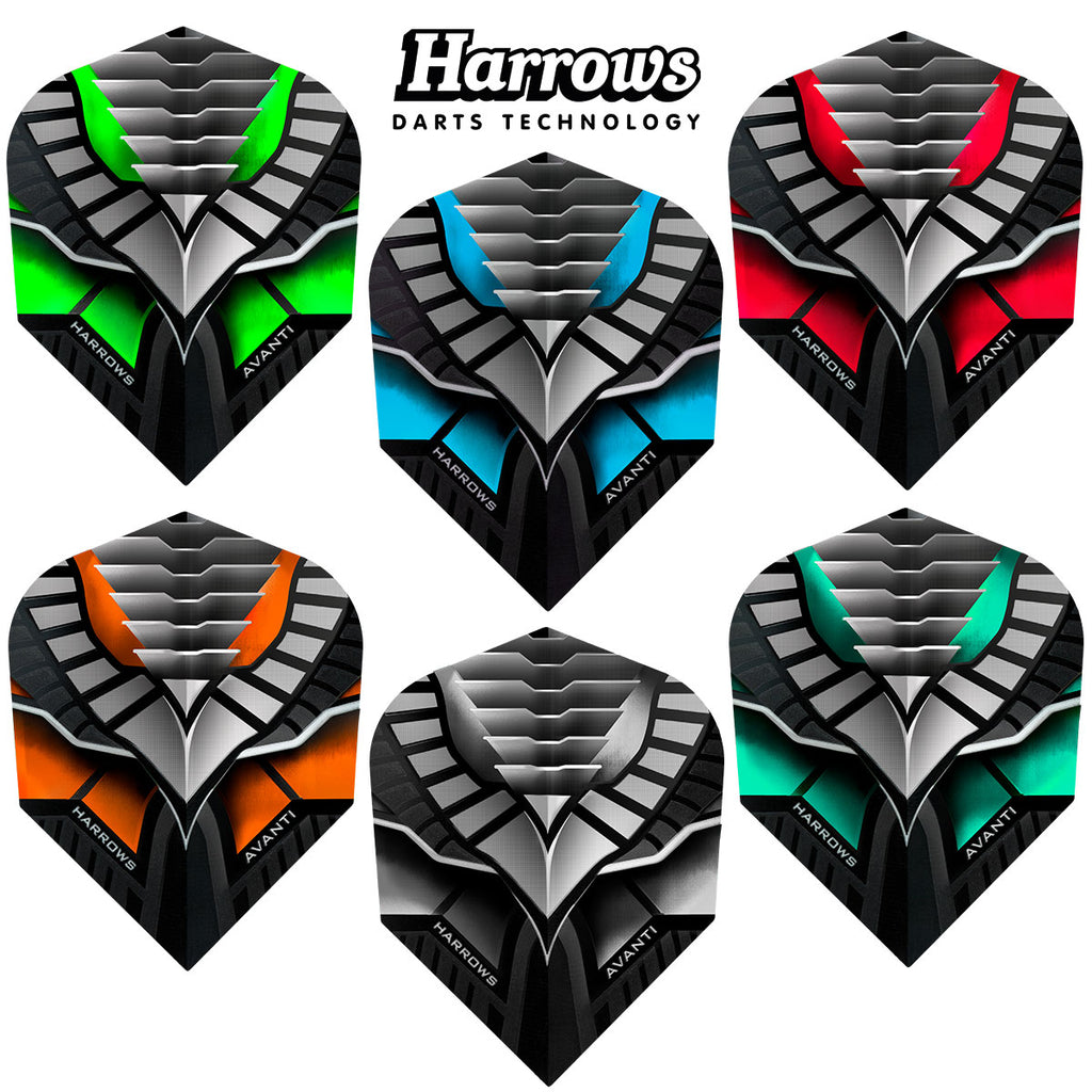 Harrows Avanti Standard Shape Dart Flights - 100 Micron