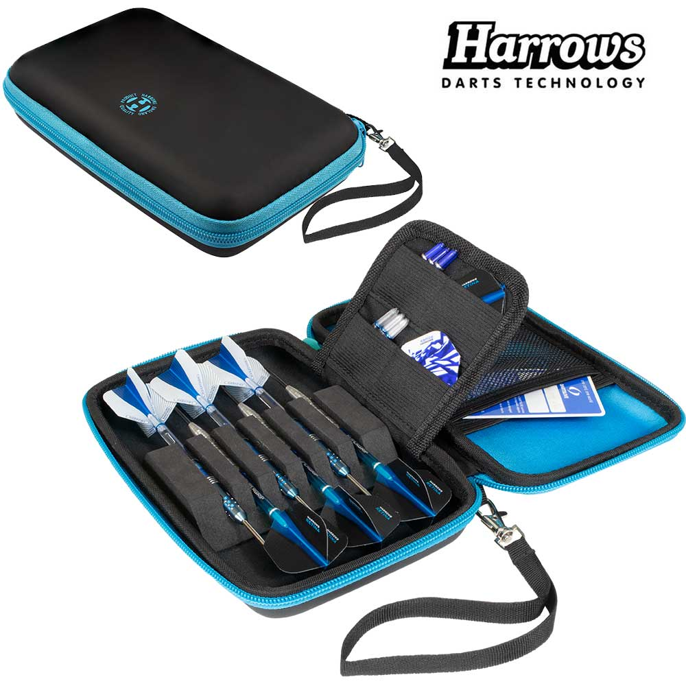 Harrows Blaze Pro 6 Dart Case - Aqua Blue