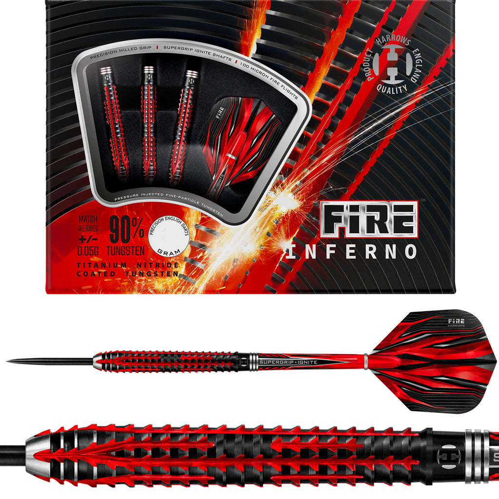 HARROWS - Fire Inferno Darts - 90% Tungsten - 23g