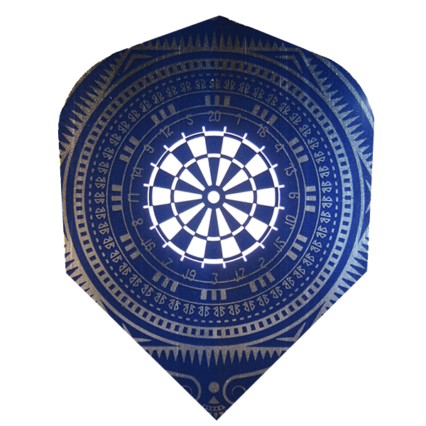 Harrows Metallic Dartboard Design Flights Blue