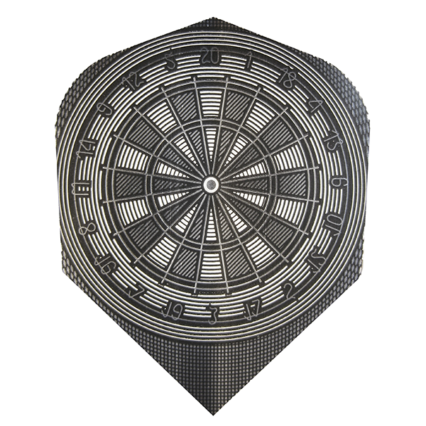 Harrows Metallic Dartboard Design Flights Gun Metal