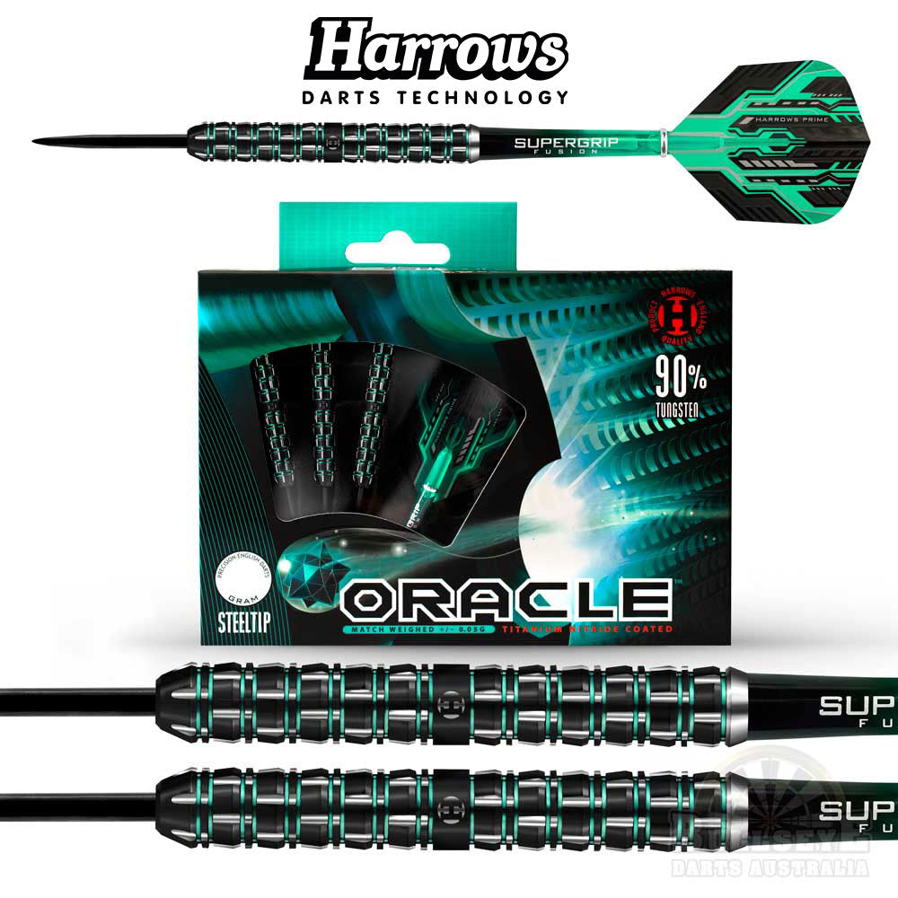 Harrows Oracle Steel Tip Darts 24g