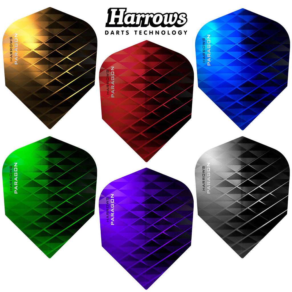Harrows Paragon Standard Shape Dart Flights - 100 Micron