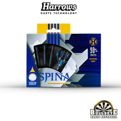 Harrows Spina Black Steel Tip Darts 26g