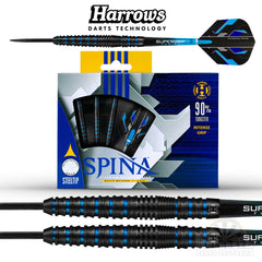 Harrows Spina Black Steel Tip Darts 21g