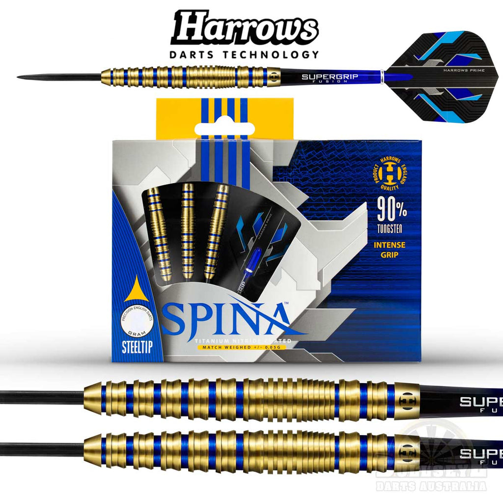 Harrows Spina Gold Steel Tip Darts 24g