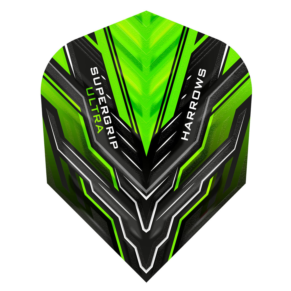 Harrows Supergrip Ultra Flights Green - 100 Micron