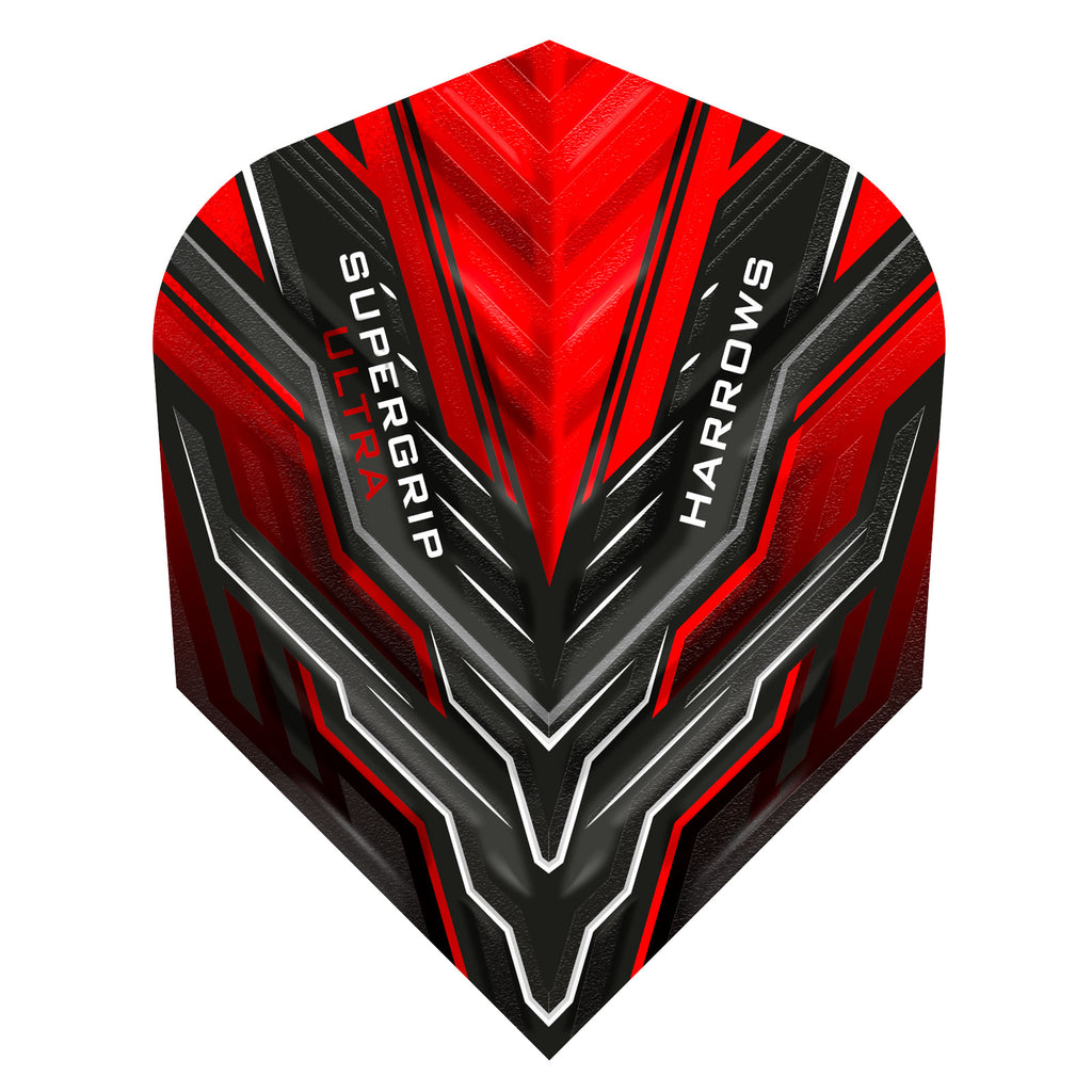 Harrows Supergrip Ultra Flights Red - 100 Micron