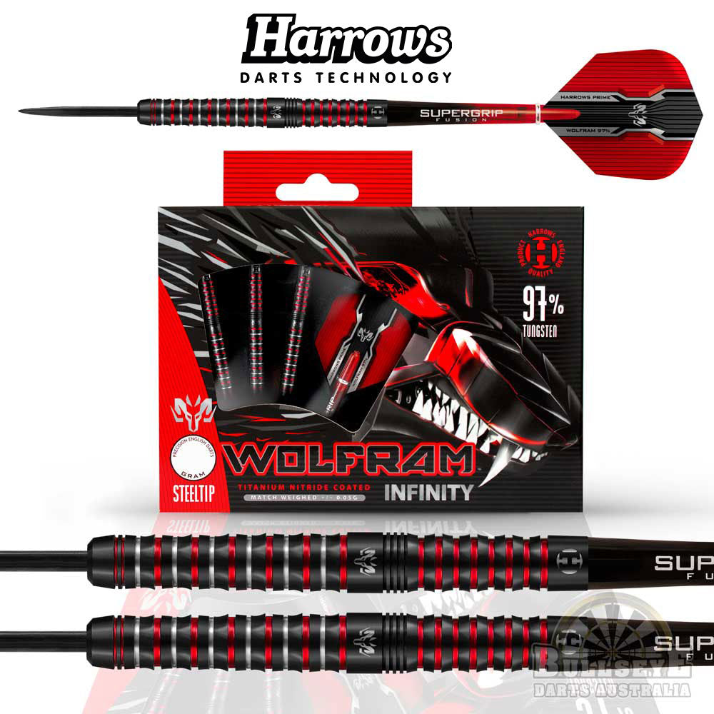 Harrows Wolfram Infinity 97% Tungsten Darts 21g