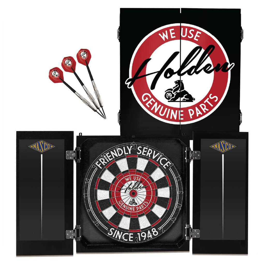 Holden Heritage Licensed Dartboard, Cabinet & Darts Set