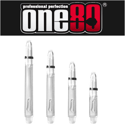One80 Proplast Spring Loaded Transparent Shafts Clear