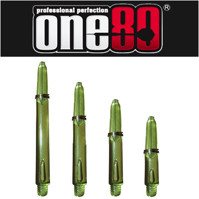 One80 Proplast Spring Loaded Transparent Shafts Green