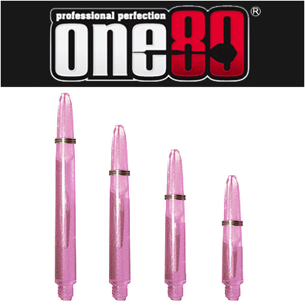 One80 Proplast Spring Loaded Transparent Shafts Pink