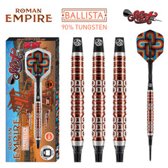 SHOT Roman Empire Ballista SOFT Tip Dart Set-90% Tungsten Barrels - 20g