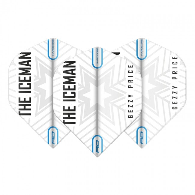 Red Dragon Gerwyn Price Iceman Flights - Snowflake White