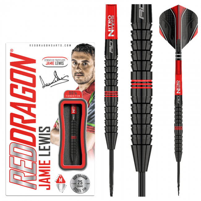 RED DRAGON Jamie Lewis Darts - 90% Tungsten - 23g