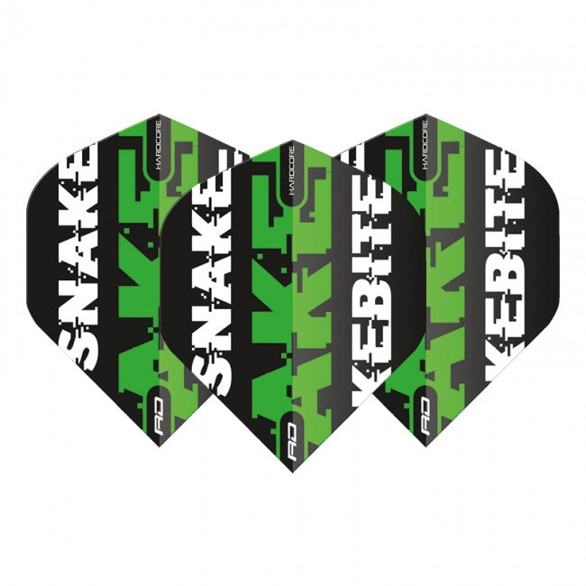 Red Dragon Peter Wright Snakebite Text Flights - Green