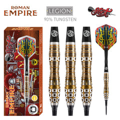 SHOT Roman Empire Legion SOFT Tip Dart Set-90% Tungsten Barrels - 20g