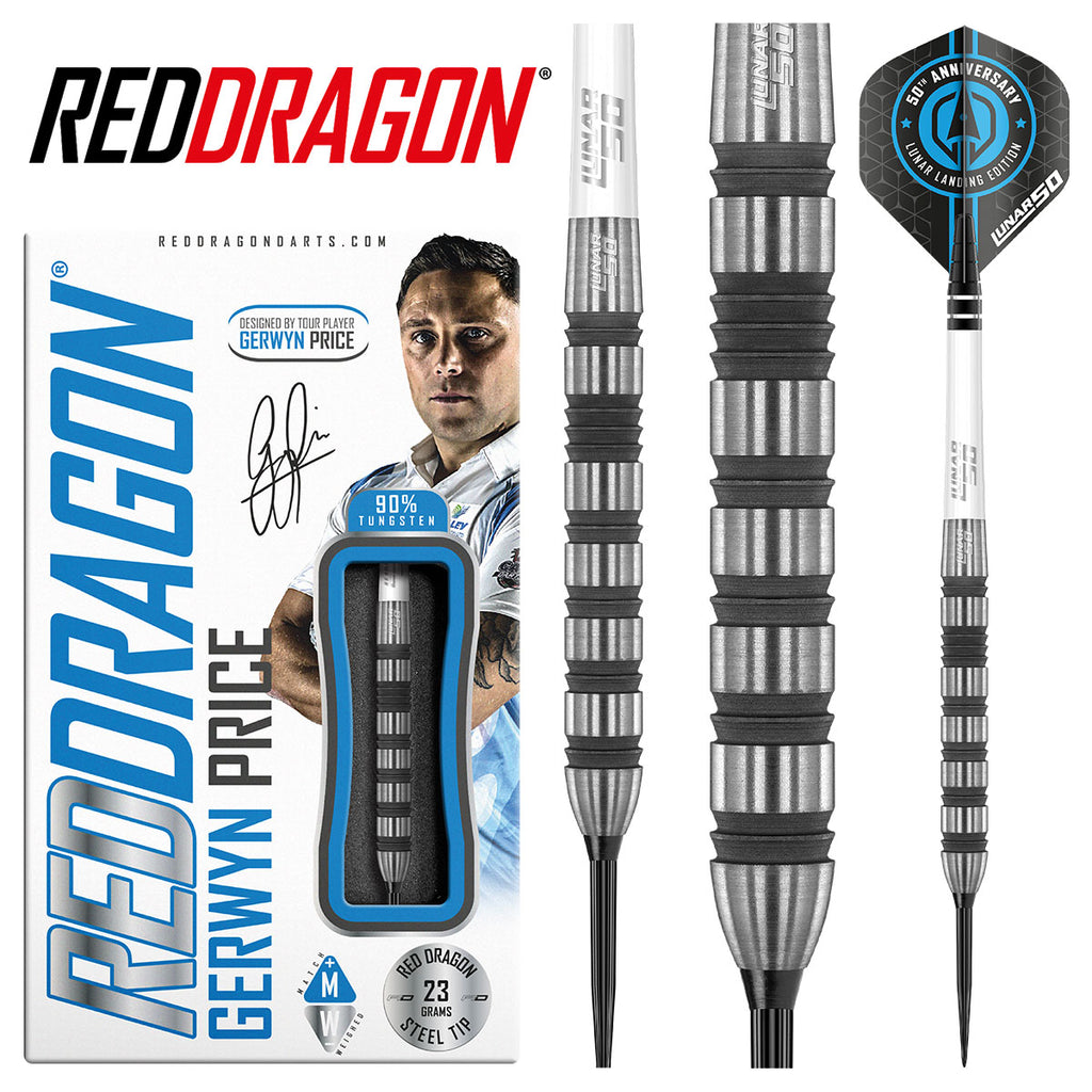 RED DRAGON Gerwyn Price Lunar SE Darts 90% Tungsten - 23g