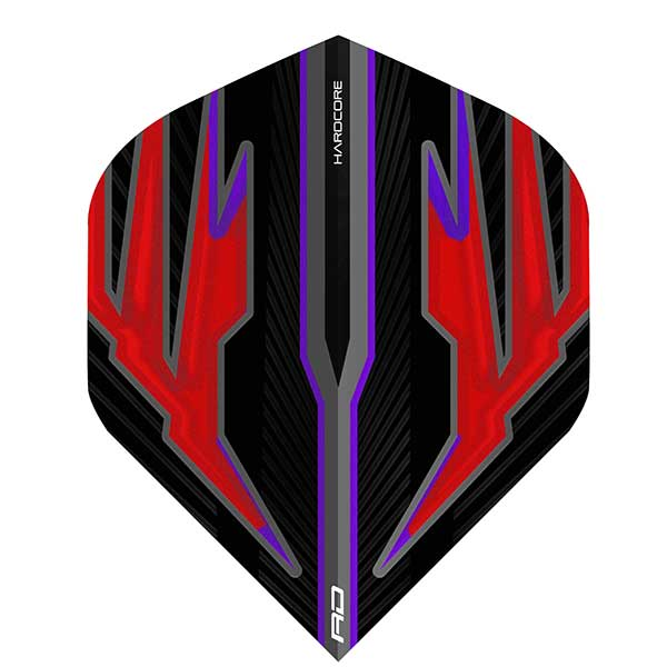 Red Dragon Hardcore Dart Flights Extra Thick - Black & Red