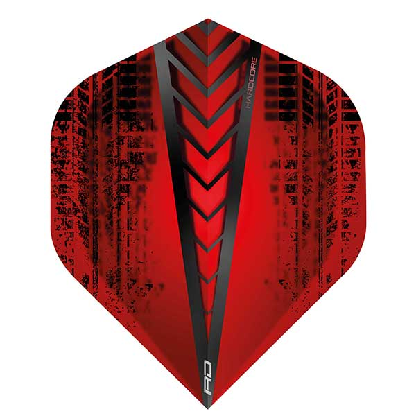 Red Dragon Hardcore Dart Flights Extra Thick - Red